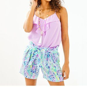 """NWT Lilly Pulitzer 5"""" Kaylene Short in Blue Oasis"""